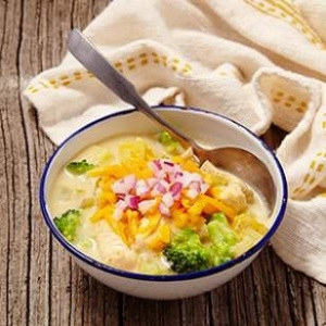 Broccoli-Cheddar-Chicken Chowder - EatingWell