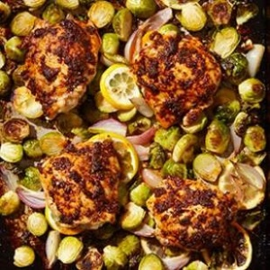 Paprika Chicken Thighs with Brussels Sprouts - EatingWell