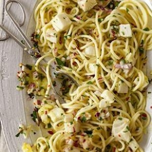 Spaghetti with Halibut & Lemon - EatingWell